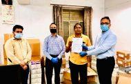 रामबाग पैलेस ने 10 लाख रुपए के एन-95 और ट्रिपल लेयर्ड मास्क डोनेट कर दिया योगदान