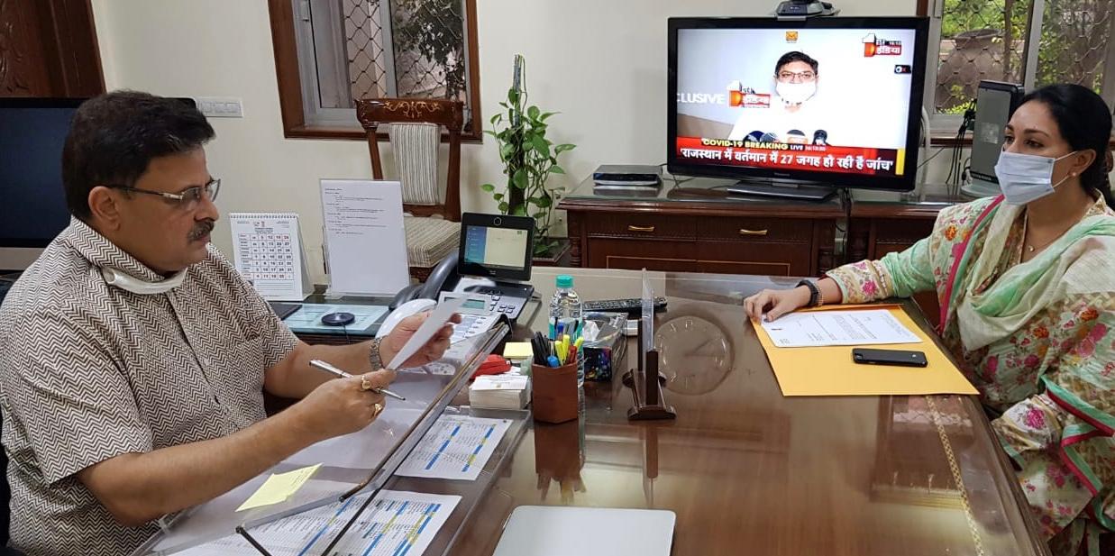 सांसद दिया कुमारी ने संसदीय क्षेत्र राजसमंद की विभिन्न समस्याओं का दिया ज्ञापन
